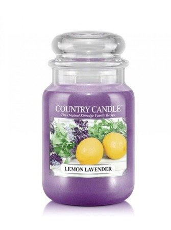 COUNTRY CANDLE Duży Słoik  Lemon Lavender