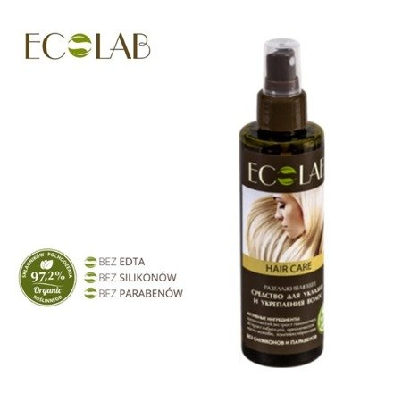 ECO LABABORATORIE Spray Wygładzający Do Układania I Wzmacniana Włosów 200ml