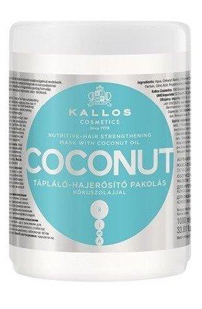 KALLOS Maska do Włosów Kokosowa Odżywczo-Wzmacniająca 1000 ml