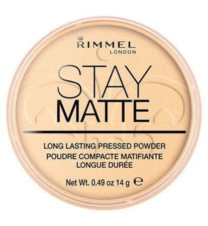 RIMMEL Stay Matte Puder Prasowany 005 Silky Beige 14g